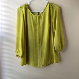 Forever 21 Yellow Mustard Blouse
